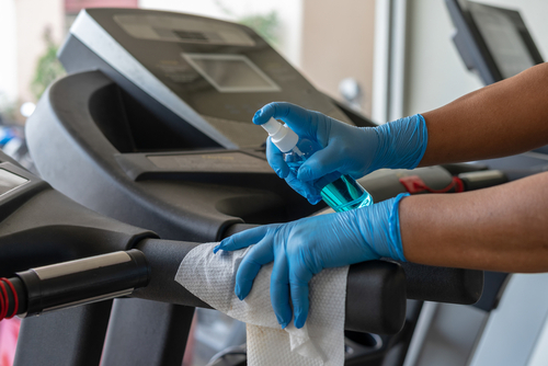 Fitness center disinfection service